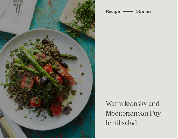 Warm kransky salad